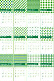 Salem e o christi coloriram o calendário geométrico 2016 dos testes padrões ilustração royalty free
