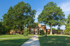 Salem Hall at WFU. Salem Hall at Wake Forest University in Winston-Salem, NC.  Built in 1956 Royalty Free Stock Photo