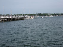 Salem, MA Harbor. Original image of a harbor in Slame, MA royalty free stock photos