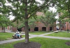 Salem, mA, il 1° giugno: Edificio di Cadets Corp dalla città di Salem nello stato della contea di Essex Massachusettes di U.S.A. fotografia stock libera da diritti