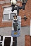 Salem, mA, il 1° giugno: Strega che appende sulla miniatura della colonna da Salem nello stato della contea di Essex Massachusett Immagine Stock Libera da Diritti