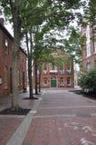 Salem, mA, le 1er juin : Rue du centre de Salem dans l'état du comté d'Essex Massachusettes des Etats-Unis Image libre de droits