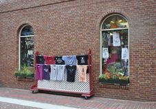 Salem, MA, 1st July: Souvenirs Stand downtown of Salem in Essex county Massachusettes state of USA stock image