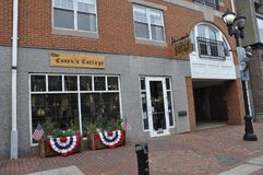 Salem, MA, 1st June: Souvenirs Magasin downtown of Salem in Essex county Massachusettes state of USA stock photo