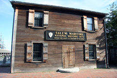 Salem Maritime Museum. Maritime historical museum in Salem Massachusetts Royalty Free Stock Photo
