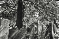 Salem Massachusetts Burying Point Cemetery Fotografia Stock Libera da Diritti