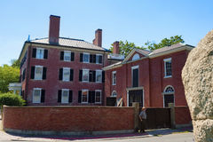 Salem Massachusetts Gardiner Pingree House. Salem, Massachusetts,USA - September 14, 2016: the Gardiner Pingree House was built in 1804 by Samuel Mcintire for Royalty Free Stock Photo