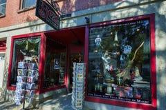 Salem Massachusetts krimskrams shoppar Arkivbilder