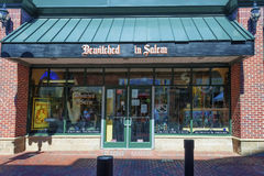 Salem Massachusetts novelty shop. Salem, Massachusetts,USA - September 14, 2016: Novelty shop `Bewitched In Salem` one of many in the famous historical town of Stock Image