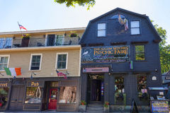 Salem Massachusetts novelty shop. Salem, Massachusetts,USA - September 14, 2016: Salem Massachusetts has a variety of novelty shop which attracts tourist who Stock Photo