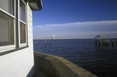 Salem Nuclear Power Plant at Delaware Bay, NJ Royalty Free Stock Images