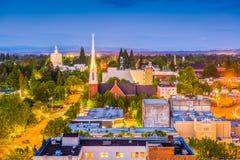 Salem, Oregon, USA Skyline. Salem, Oregon, USA town skyline at dusk stock photography