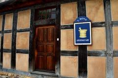 Salem velho, NC: Loja de Apthecary Fotografia de Stock
