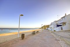 Salema beach in Portugal Royalty Free Stock Photos