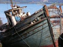 Salen Beach Ships Stock Image