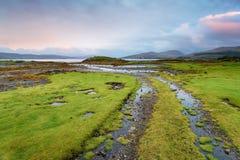 Salen-Bucht auf der Insel von verrühren stockbilder