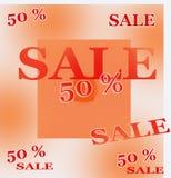 Sale 50 procent av hösten Royaltyfri Illustrationer