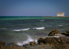 Salento海岸,普利亚,意大利 免版税库存图片