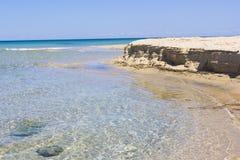 Salento海滩,海滩 免版税库存图片