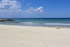 Salento beach. Coast of Salento: white beach Royalty Free Stock Image