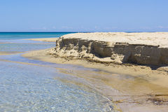 Salento beach, foreshore. And clear sea Stock Photos