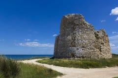 Salento, coastal tower. Salento, Torre Chianca: coastal tower crumbling Stock Image