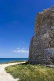Salento, coastal tower. Salento, Torre Chianca: coastal tower crumbling Royalty Free Stock Photo