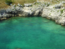 Salento - Italy. Cristalline water of the sea in Salento (Italy Royalty Free Stock Images