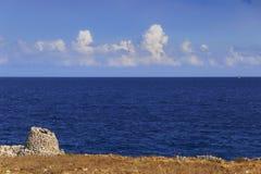 SALENTO krajobraz Trullo dom Apulia, WŁOCHY zdjęcie royalty free