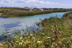 Salento river. Torre Chianca, Lecce river near the sea Stock Photo