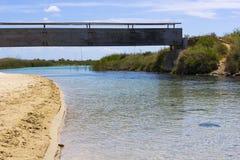 Salento river. Torre Chianca, Lecce river near the sea Stock Photography
