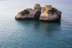 Salento: Torre dell'Orso. Sea Salento: Torre dell'Orso, the two sisters Royalty Free Stock Photos