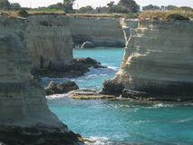 Salento. A view of the coast of Salento (Italy Stock Photography