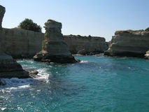 Salento. A view of the coast of Salento (Italy Royalty Free Stock Image