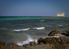 Salento wybrzeże, Puglia, Włochy Obrazy Royalty Free