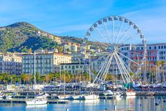 Salerno, city in Campania, south Italy. On the Tyrrhenian Sea, Amalfi coast, Italy with City Eye, urban, cityscape, wheel, gulf, summer, vietri, town, nature stock images