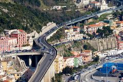 Salerno-cityscape Royalty Free Stock Images