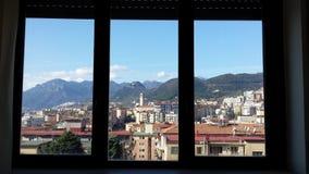 Salerno dalla finestra Zdjęcie Stock