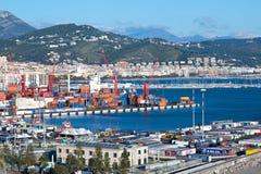 Salerno hamn Arkivbilder