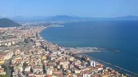 Salerno, panorama Zdjęcia Stock