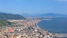 Salerno, panorama Zdjęcie Stock
