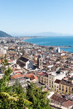 Salerno Panorama - Italia. Aerial view of the city of Salerno and its Gulf stock photos