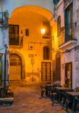 Salerno old town at sunset, Campania, Italy. stock images