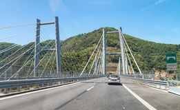 Salerno Reggio Calabria interstate highway bridge, Italy.  Royalty Free Stock Photos
