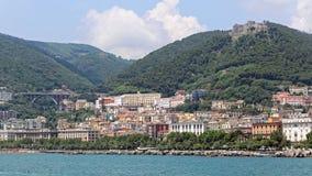 Salerno-Skyline Italien Lizenzfreies Stockbild