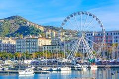 Salerno, stad in Campania, Zuid-Italië stock afbeeldingen