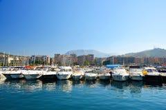 Salerno Włochy, Lipiec, - 6, 2017: Marina w mieście Salerno Włochy Fotografia Royalty Free