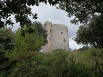 Salerno - widok Bastille zdjęcie stock