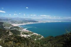 Salerno zatoka Zdjęcie Royalty Free