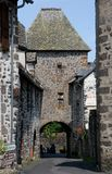 Salers, France. Gate in old town Salers in Central Massif, Auvergne, France Stock Photography